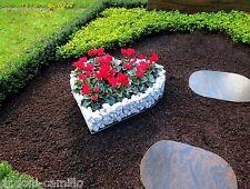 Herz 42x42x10cm Mit Kies  Korb Pflanzenschale Grabschmuck Grabgestaltung Engel