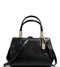 NWT Coach Madison Leather Mini Satchel Crossbody Bag Light Gold Black F49720