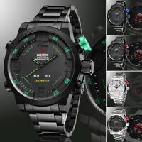 OHSEN LED Digital Date Day Alarm Men Quartz Army Military Sport Wrist Watch