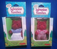 Vtg 1985 TOMY SYLVANIAN FAMILIES ROSE TAYLOR TIMBERTOP BEAR CALICO NEW BOX NRFB