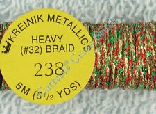 Kreinik Braid #32 238 Christmas Metallic Thread 5M Plastic Canvas Needlepoint