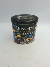 BASSETTS LIQUORICE ALLSORTS TIN COLOURFUL SWEETS WALKING BERTIE DESIGN - 1996