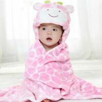 Baby Hooded Towel Giraffe Bear Bathrobe Infant Blanket Beach Summer Newborn Bath