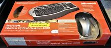 Microsoft Wireless Optical Desktop 4000 Keyboard, Mouse, and Receiver  FREE SHIP