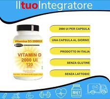 Vitamina D3 2000 UI 365 Capsule Fornitura 1 Anno Sistema Immunitario Integratore