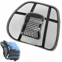 Lumbar Lower Back Support Mesh Cushion Pain Relief Posture Massage Car Seat