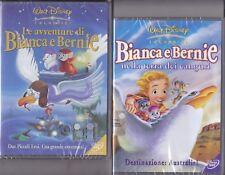 2 Dvd Disney LE AVVENTURE DI BIANCA E BERNIE + NELLA TERRA DEI CANGURI nuovo