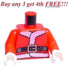 ☀️NEW Lego Torso Santa Clause Christmas Xmas White Gloves Minifig minifigure