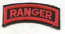 U.S. ARMY RANGER TAB CUT EDGE RED ON BLACK