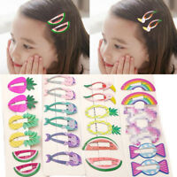6Pcs Hair Clips Cute Mixed Color Assorted Baby Kids Girls Hair Pin Accessories