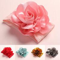 Baby Nylon Soft Bow Head Wrap Turban Top Flower Headband Newborn Girl Accessory