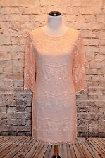 Modcloth Prosecco Punch Dress NWOT 0 Wendy Bird $130 Peach lace shift scalloped