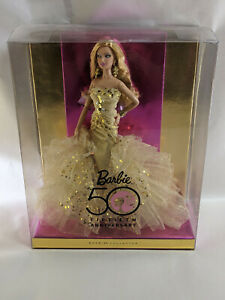 GOLD GLAMOUR BARBIE DOLL 50TH ANNIVERSARY 2008 MATTEL N4981 NEW NOS