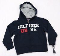 Tommy Hilfiger Boys Hilfiger 85 Fleece Zip-Up Hoodie Swim Navy Size 4, L(16/18)