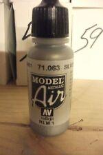 AEROGRAFO VERNICE val063-AV Vallejo Model Air-Argento (metallico)