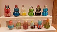 8 Botellas De Vidrio Frascos 1:12th Escala Casa de Muñecas espeluznante Bruja boticario Magic 24th