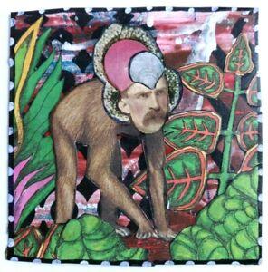 """APE MAN"" Weird collage Original Vintage SURREAL outsider Art strange MONKEY"