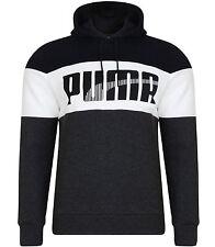 Men's New Puma Fleece Hooded Sweatshirt Hoodie Hoody Jumper Pullover - Dark Grey