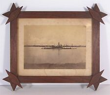 ca1864 CONFEDERATE IRONCLAD SHIP CSS TENNESSEE CARD MOUNT ALBUMEN PHOTOGRAPH
