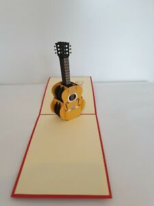 3d Popup Guitar Card