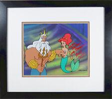 Original Disney production Cel Little Mermaid Dad Triton signed Jodi Benson COA