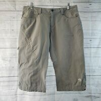 Mountain Hardwear Womens Capris Sz 10 Gray Mid Rise
