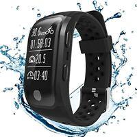 GPS Smartband Letine Herzfrequenz Pulsuhr Sport Uhr Fitness Armband Smartwatch