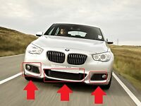 BMW F07 5 GT SERIES NEW GENUINE M SPORT FRONT BUMPER GRILLES SET OF 3 PIECES