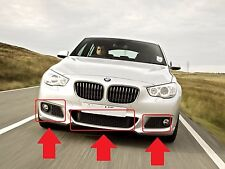 BMW F07 5 GT SERIES NEW GENUINE M SPORT FRONT BUMPER GRILLES SET OF 3 PIECES