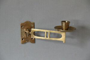 Paar Kerzenhalter Klavierleuchter Wandleuchter Messing bronziert 107.092B