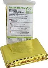 Medi-Inn Foil Emergency Space Blanket Survival Thermal Rescue First Aid Gold