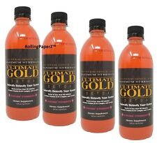 4X 'STRAWBERRY' Flavored ULTIMATE GOLD DETOX DRINKS 16OZ - Works in One Hour
