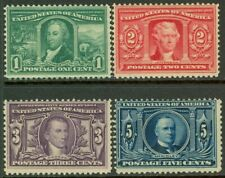 EDW1949SELL : USA 1904 Scott #323-26 Mint Original Gum Hinged. Catalog $180.00.