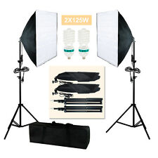2pcs Photography Lighting Softbox Photo Equipment Soft Studio Kit US Seller