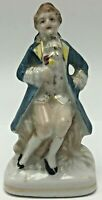 Vintage Occupied Japan Porcelain Bisque Victorian Man Figurine Hand Painted