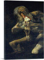 Saturn Devouring His Son Wall Street Movie Canvas Art Print by Francisco De Goya