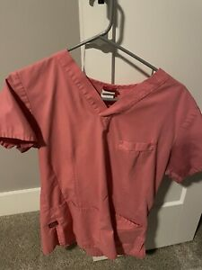 Womens Dickies Scrub Top Size Small S- Pink
