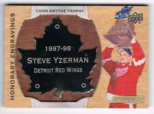 2018-19 Upper Deck Engrained Honorary Engravings Conn Smythe Steve Yzerman /100