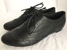 VERY VOLATILE Davis Black Lace Up Wingtip Oxfords Shoes Size 8