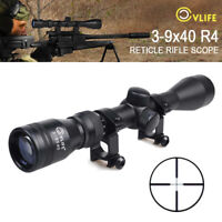 CVLIFE Rifle Scope 3-9x40 Optics R4 Reticle Crosshair Air Sniper Hunting Scopes