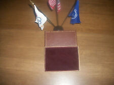 MADE IN AMERICA 7 X 5 X 7/8 .45ea BROWN AND GOLD VELVET LINED BOX 53 EA