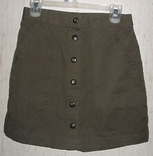 WOMENS FASHION BUG TAUPE GREEN SKORT  SIZE 6