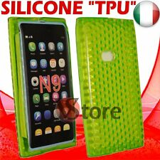 Cover Custodia Per Nokia N9 Verde Gel Silicone TPU Case Diamond Green