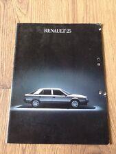 1985 Renault 25 Brochure