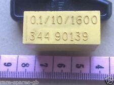 Vintage De Bloque Condensador 0.1 uf 10% 1600 V para circuitos de válvula, Amplificador, etc.