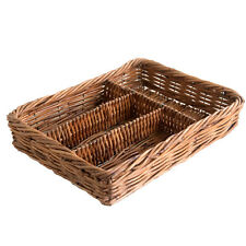 Rattan Wicker Cutlery Basket Tray Holder