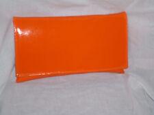 Plana Grande Naranja patente Embrague Bag / Bolsa De Hombro