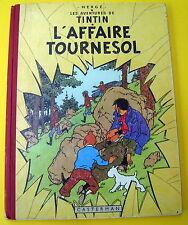 TINTIN HERGE L'AFFAIRE TOURNESOL EO B19 FRANCAISE 1956 BON ETAT