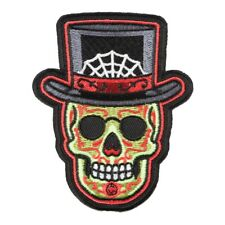 LEATHER Voodoo Skull Witch Doctor BIKER OUTLAW MOTORCYCLE  Patch