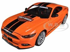 2015 FORD MUSTANG HARLEY DAVIDSON ORANGE 1:24 DIECAST MODEL CAR BY MAISTO 32188